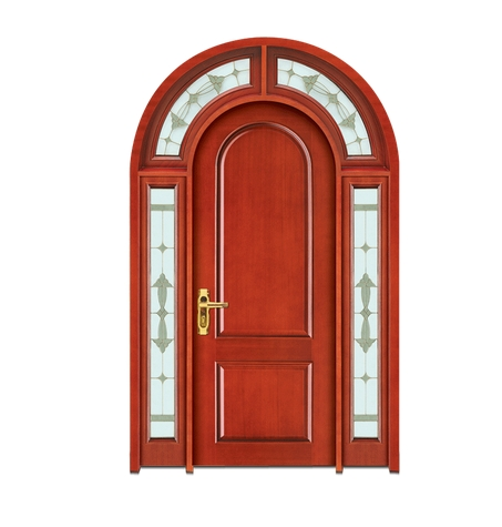 Light colored combination patterns wooden front door for Wood door manufacturers