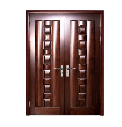 Case grain wooden double leaf door