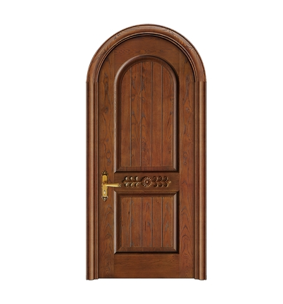 Oval carved wooden front door for Wood door manufacturers