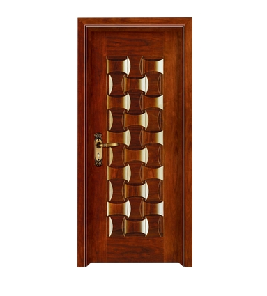 Three rows case grain wooden front door