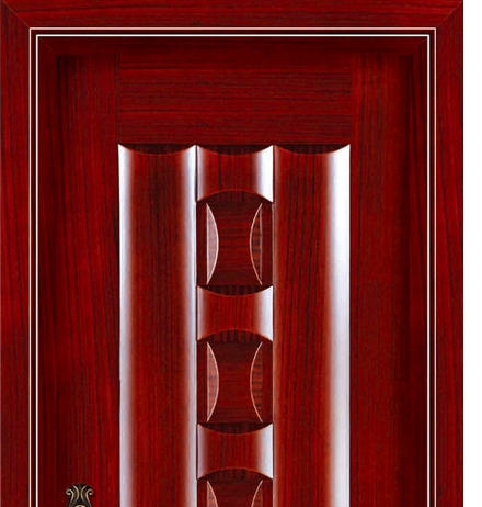 Rectangular case grain wooden front door