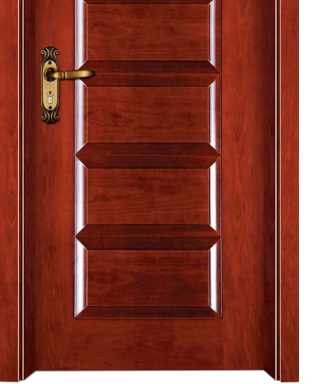 Rectangular patterns wooden front door