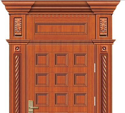 Multi-row Case grain wooden front door