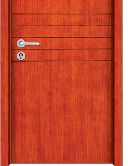 Simple lines wooden flush door