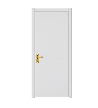 White minimalist wooden flush door