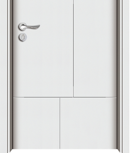 Light-colored wooden flush door