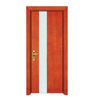 Striped wooden flush door