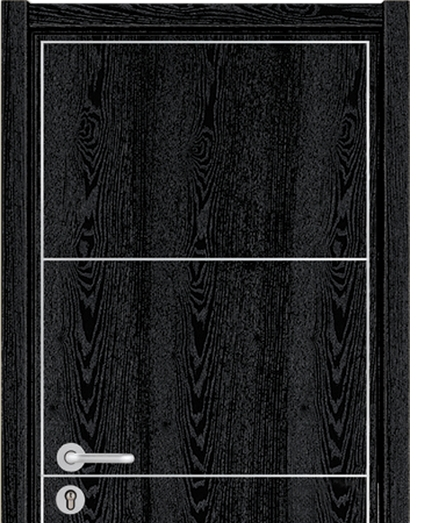 Square pattern wooden flush door
