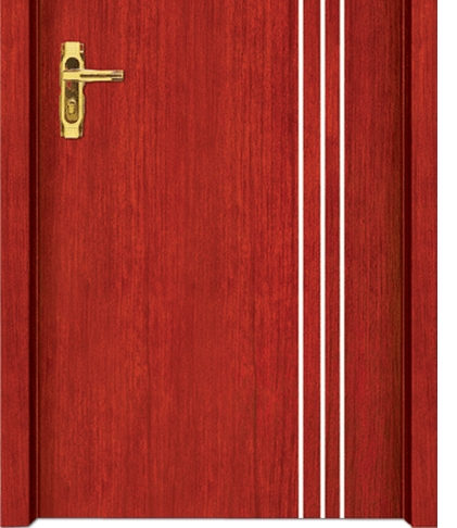 Three lines wooden flush door