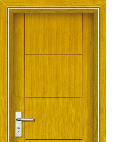 Square patterns wooden flush door