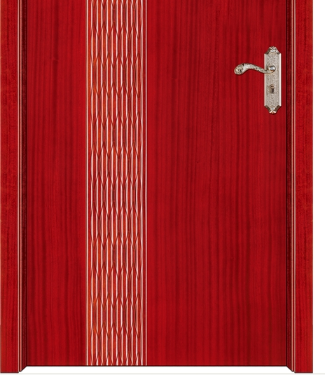 Stripes wooden flush door