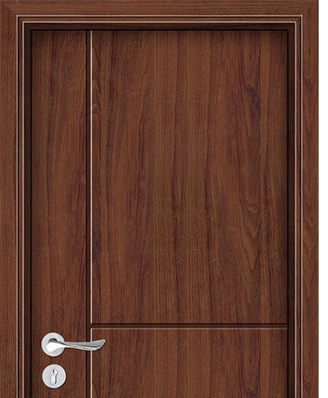 Line pattern wooden flush door