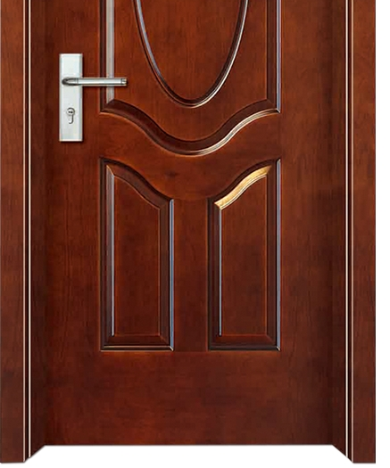 Combined patterns wooden flush door