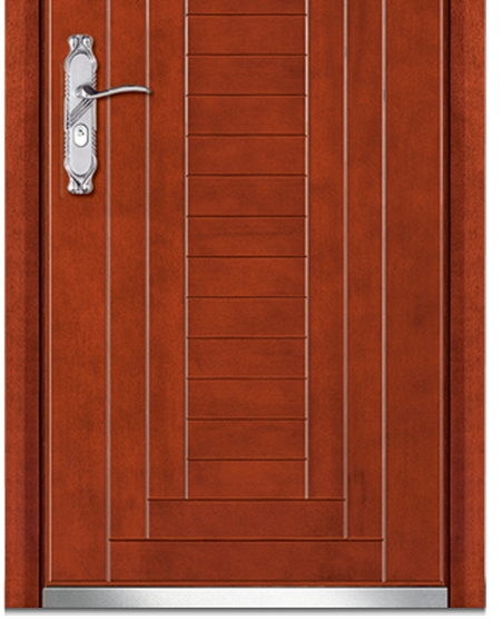 small striped wooden flush door