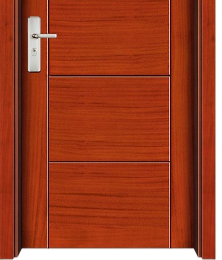 Simplicity rectangular patterns wooden flush door