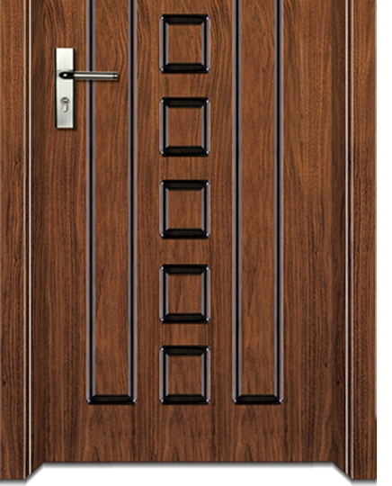 striped + grid wooden flush door