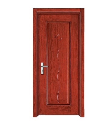 Rectangular S Shaped Lines Wooden Flush Door