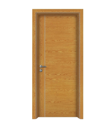 Single-lines wooden flush door