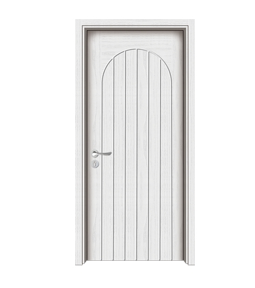 Multi-lines wooden flush door