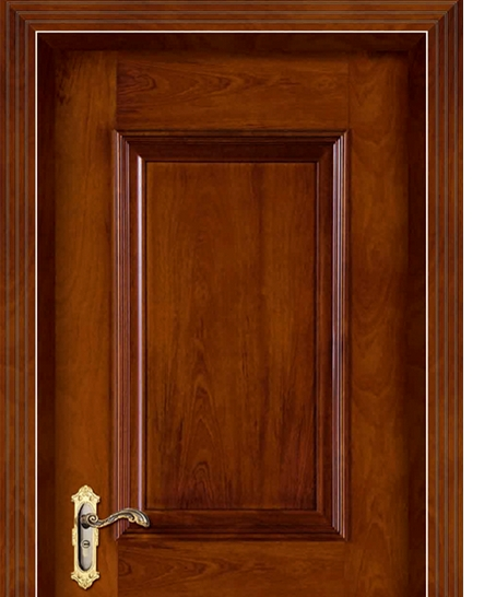 Rectangular + square wooden panel door
