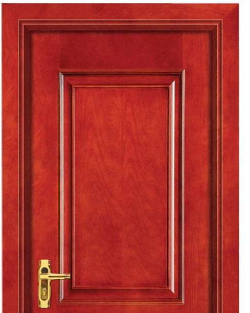 Rectangular and square pattern wooden panel door