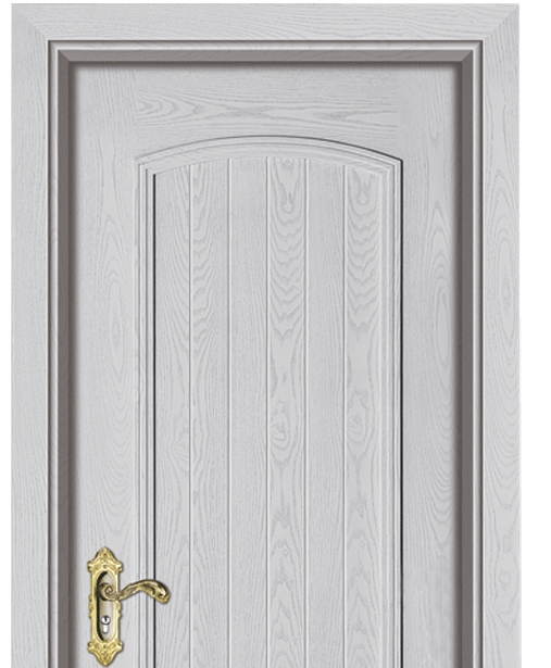 Colored striped wooden panel door