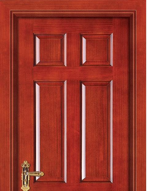 Rectangular patterns wooden panel door