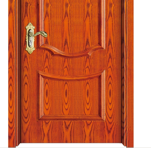 Oval wood grain wooden panel door