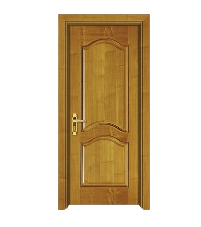 Simple patterns wooden panel door