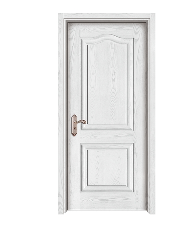 Simple light-colored wooden panel door