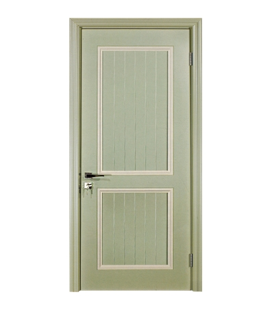 Simple lines wooden panel door
