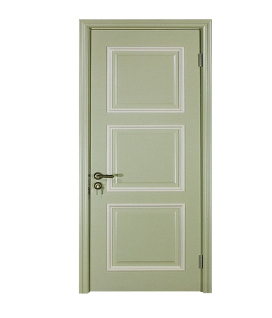 Simple rectangular patterns wooden panel door