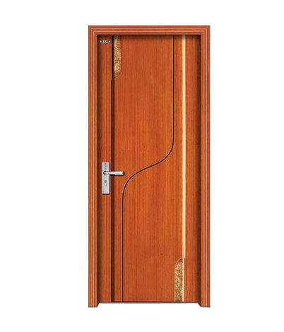S-type lines wooden panel door