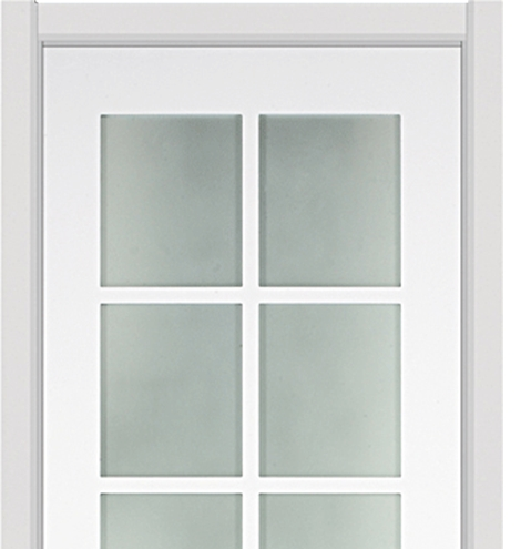 Square glass wooden door