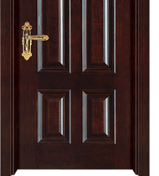 Double row patterns wooden panel door