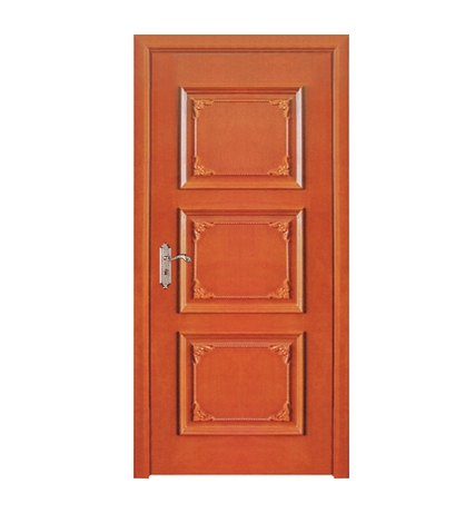 Rectangle carved wooden panel door
