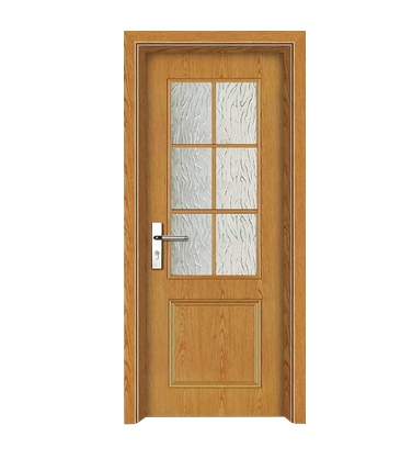 Squares glass wooden door