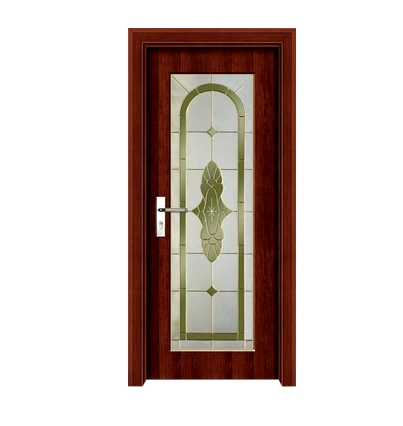 Fashion patterns glass wooden door