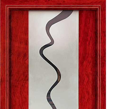Curves glass wooden door