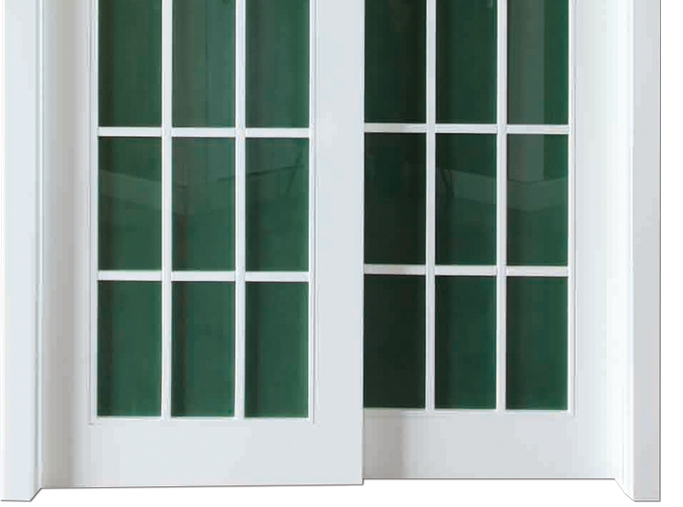 light color glass wooden sliding doors