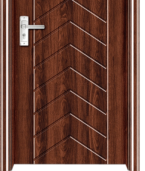 Curved stripes PVC Door