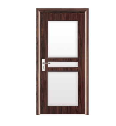 Large window glass PVC door