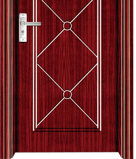 Cross-line panel PVC door