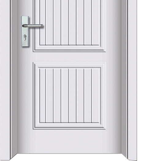 White stripes panel PVC door