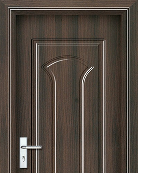 Simple patterns panel PVC door