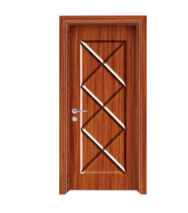 Cross lines panel PVC door