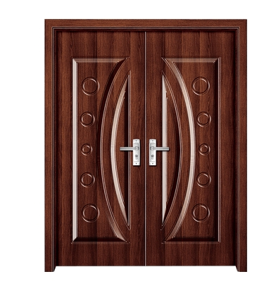 Fashion patterns panel PVC double leaf door