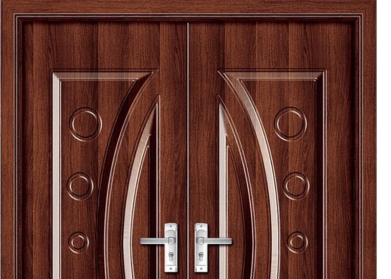 Fashion Patterns Panel Pvc Double Leaf Door