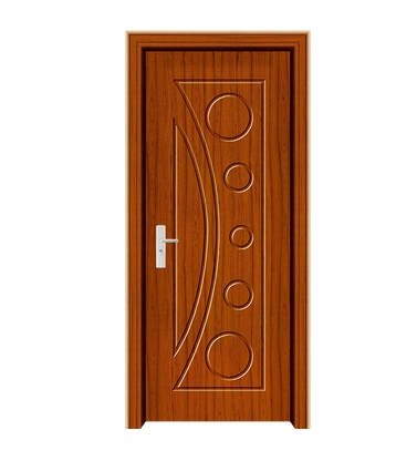 Combined pattern panel PVC door