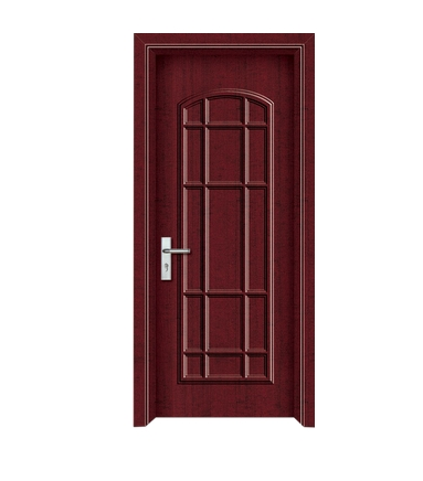 Plaid pattern panel PVC door